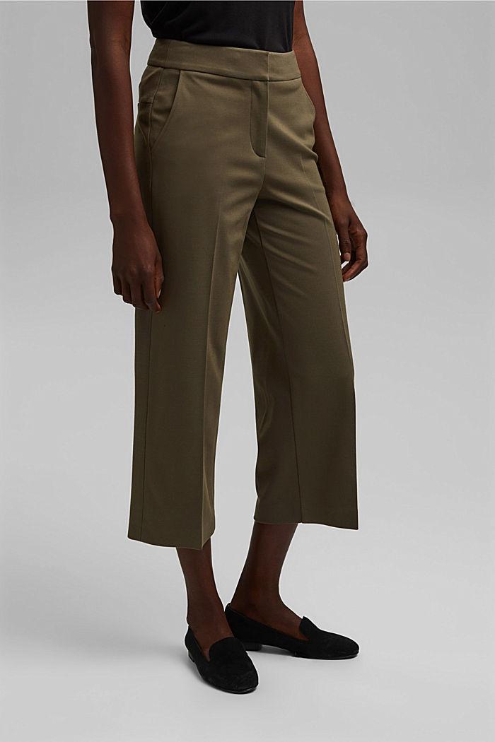 SOFT PUNTO mix + match trousers, DARK KHAKI, detail image number 5