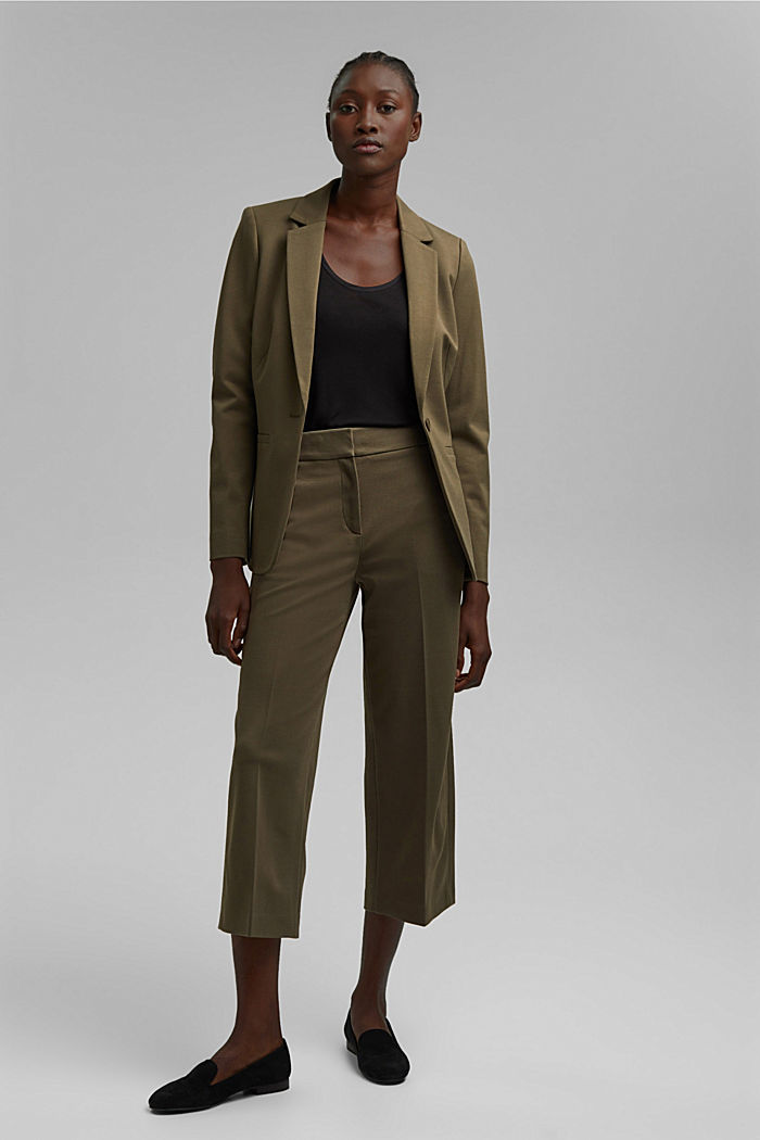 SOFT PUNTO mix + match trousers, DARK KHAKI, detail image number 1
