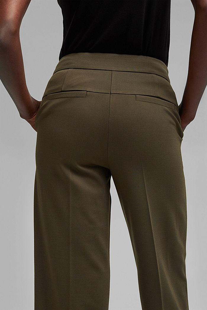 SOFT PUNTO mix + match trousers, DARK KHAKI, detail image number 2