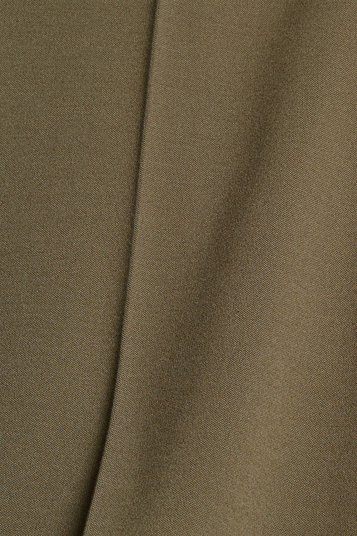 SOFT PUNTO mix + match trousers, DARK KHAKI, detail image number 4