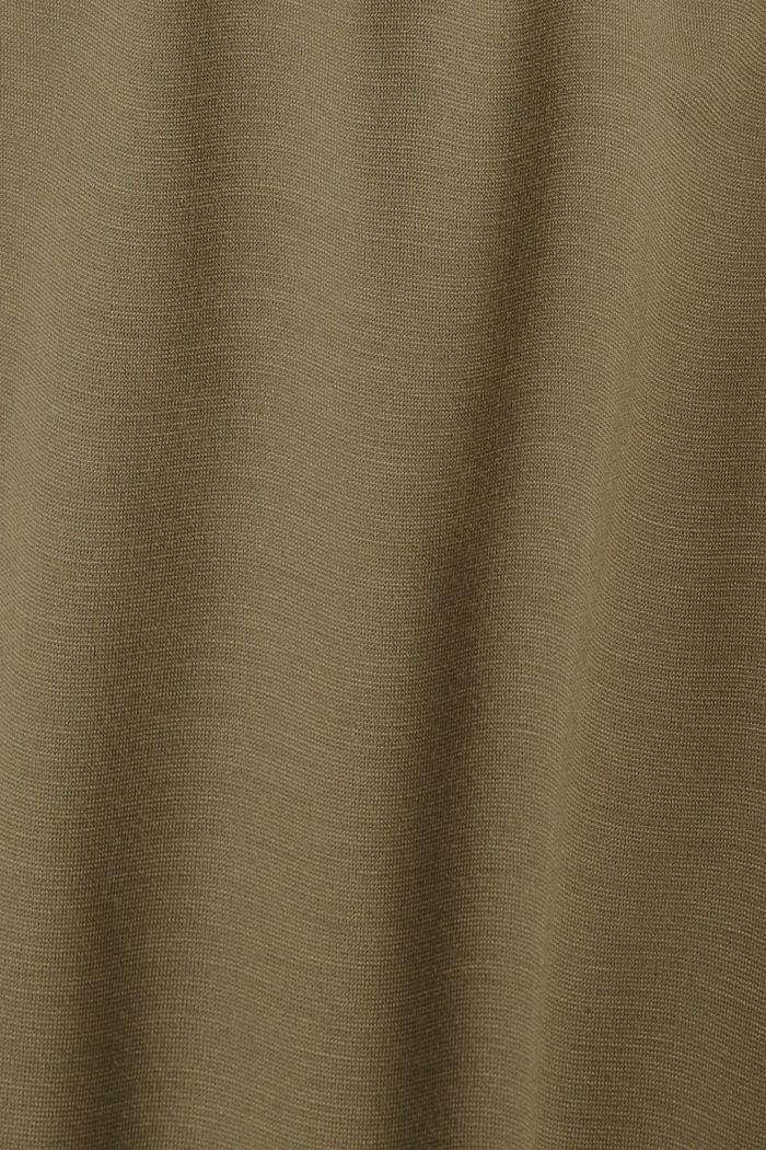 Jerseyrock mit Gürtel, LENZING™ ECOVERO™, DARK KHAKI, detail image number 4