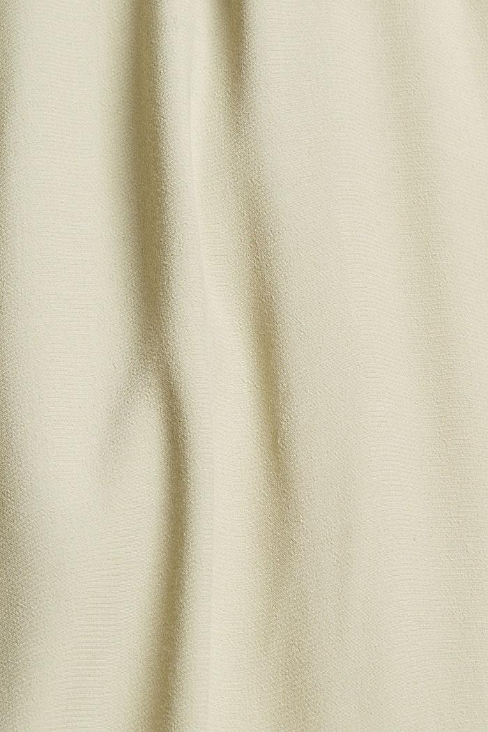 Midirock mit Gummibund aus 100% Viskose, DUSTY GREEN, detail image number 4
