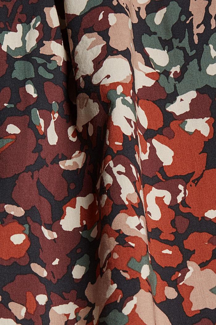 A-Linie-Rock mit Blumen-Print, BLACK, detail image number 4