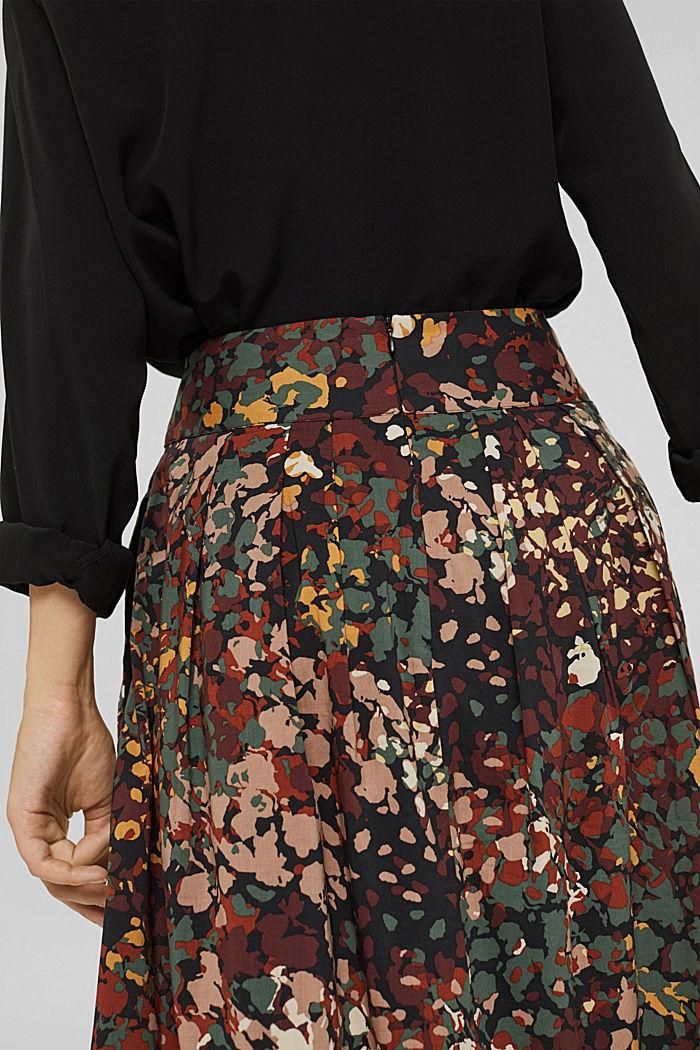 Jupe trapèze à imprimé fleuri, BLACK, detail image number 5