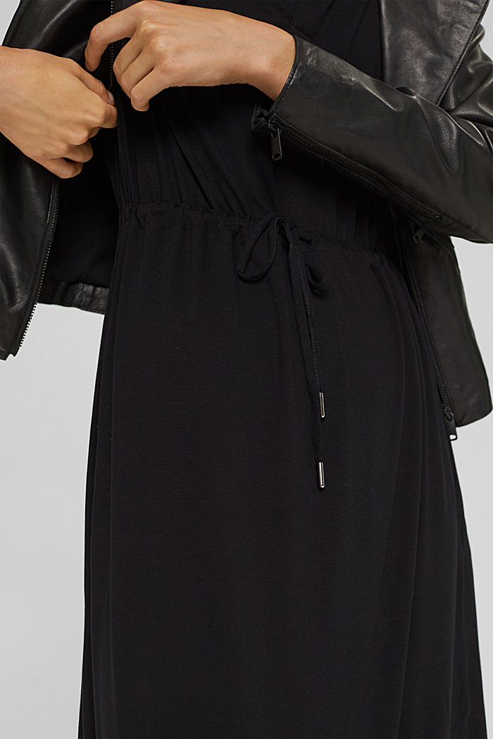 Jersey dress made of LENZING™ ECOVERO™, BLACK, detail image number 3