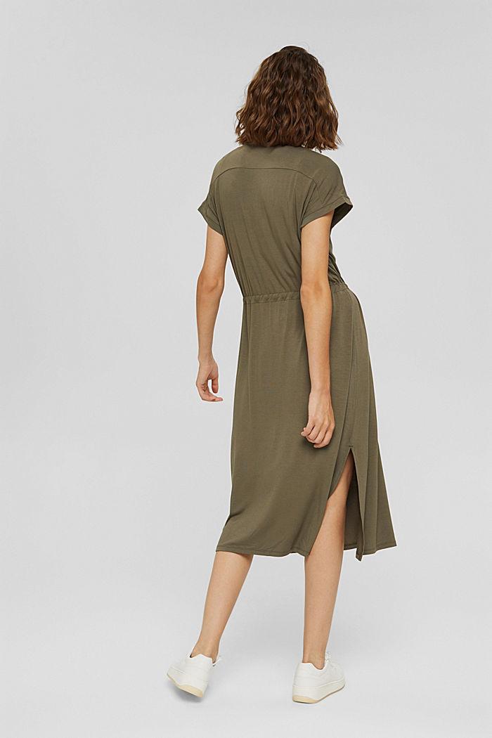 Jersey dress made of LENZING™ ECOVERO™, DARK KHAKI, detail image number 2