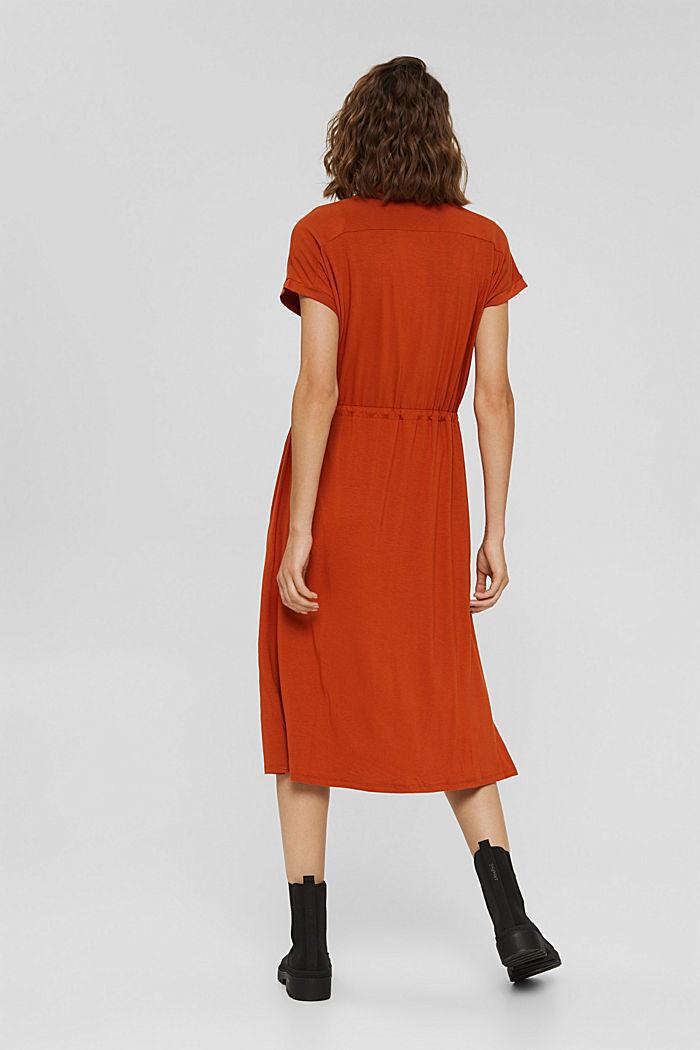 Jersey-Kleid aus LENZING™ ECOVERO™, TERRACOTTA, detail image number 2