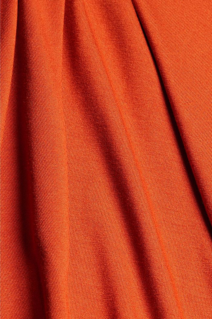 Jersey-Kleid aus LENZING™ ECOVERO™, TERRACOTTA, detail image number 4