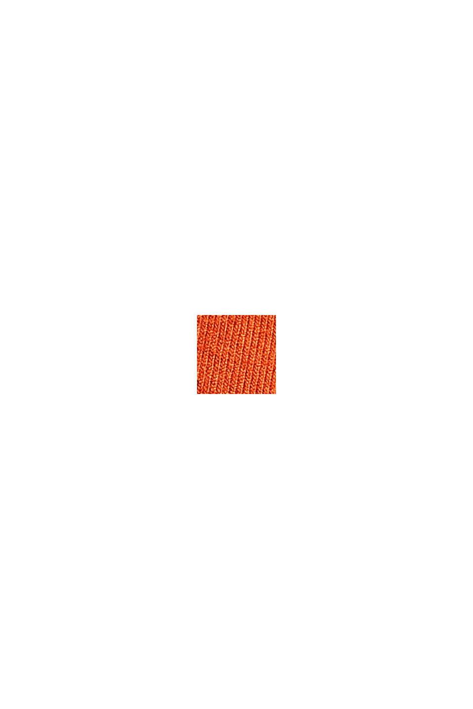 Jersey-Kleid aus LENZING™ ECOVERO™, TERRACOTTA, swatch