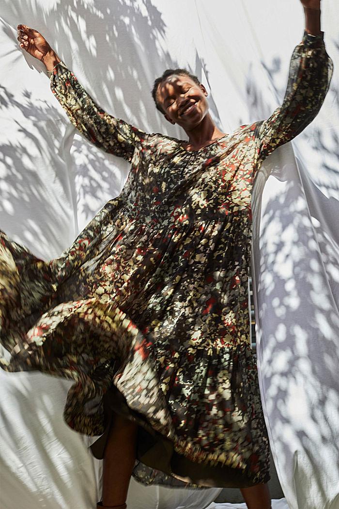 In materiale riciclato: abito maxi floreale in chiffon