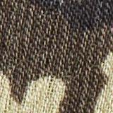 In materiale riciclato: abito maxi floreale in chiffon, DARK KHAKI, swatch