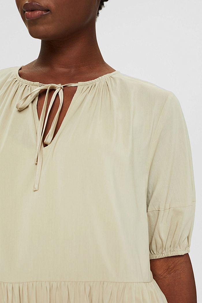 Kleid mit halblangen Ärmeln aus Baumwoll-Mix, DUSTY GREEN, detail image number 3