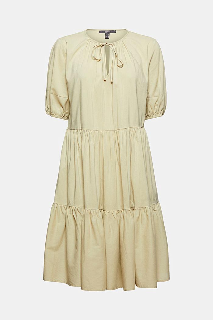 Kleid mit halblangen Ärmeln aus Baumwoll-Mix