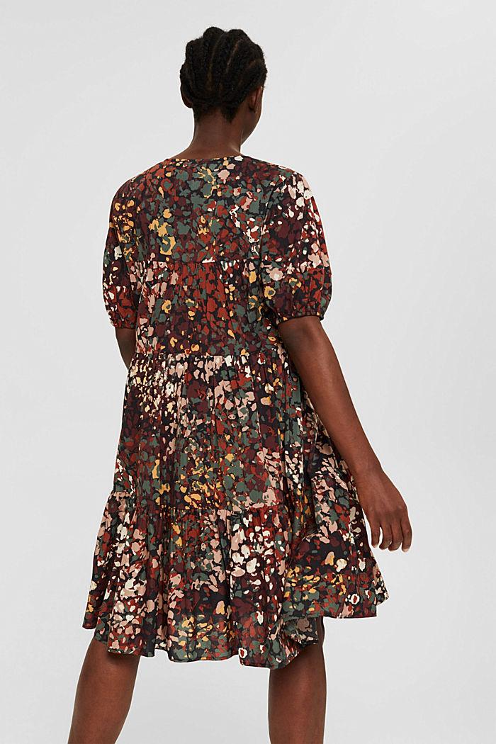 Robe à imprimé en coton mélangé, BLACK, detail image number 2