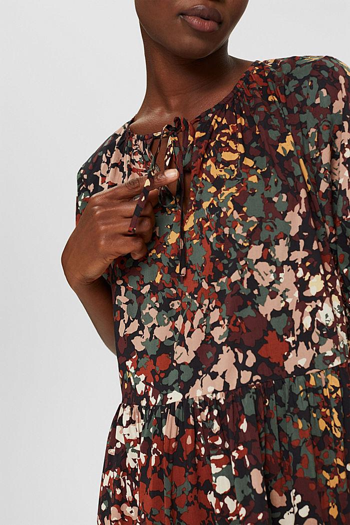 Robe à imprimé en coton mélangé, BLACK, detail image number 3