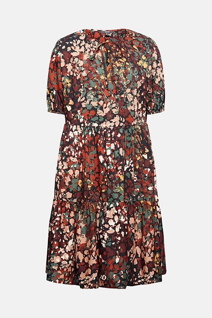 Kleid mit Print aus Baumwoll-Mix