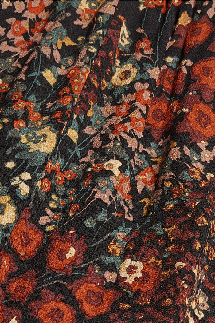 Floral midi dress with LENZING™ ECOVERO™, BLACK, detail image number 4