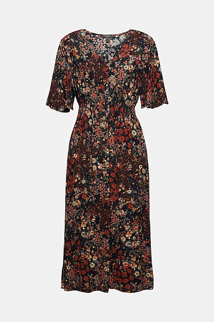 Floral midi dress with LENZING™ ECOVERO™