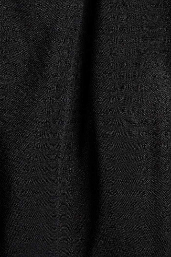 Längere Tunika-Bluse mit LENZING™ ECOVERO™, BLACK, detail image number 4