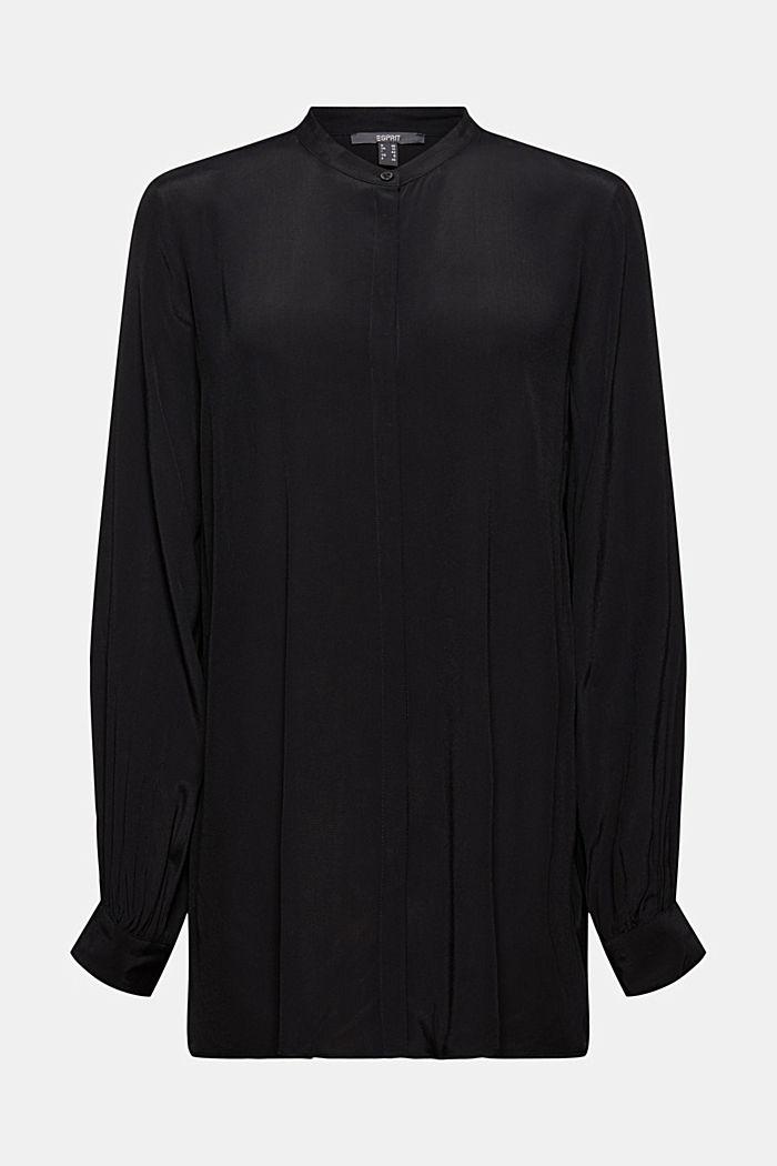 Längere Tunika-Bluse mit LENZING™ ECOVERO™, BLACK, detail image number 5
