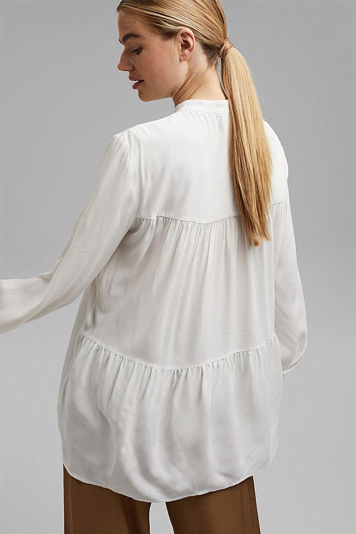 Longer tunic blouse containing LENZING™ ECOVERO™, OFF WHITE, detail image number 3