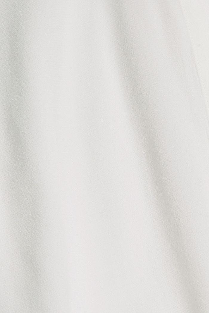 Longer tunic blouse containing LENZING™ ECOVERO™, OFF WHITE, detail image number 4