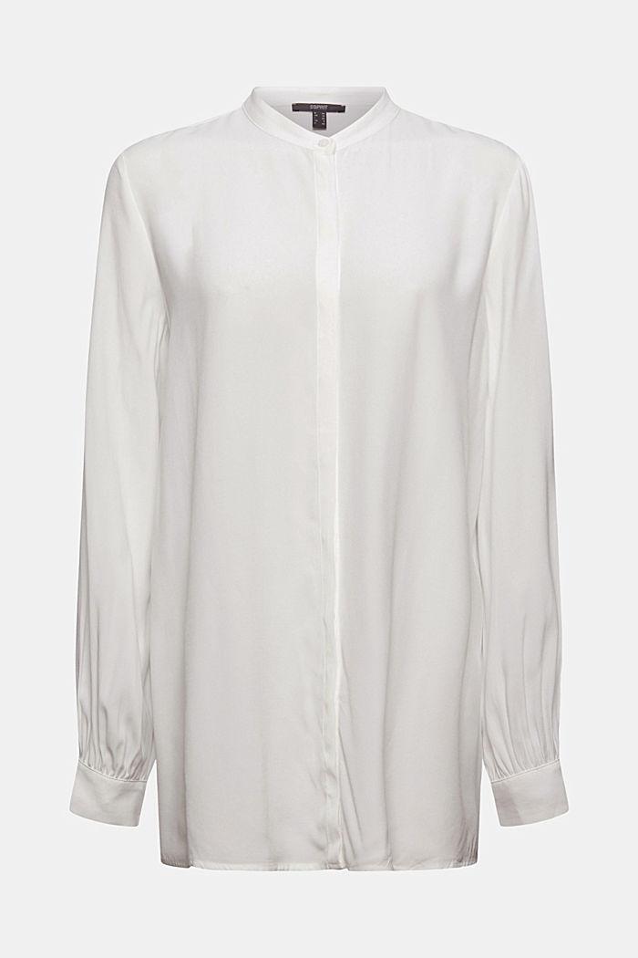 Longer tunic blouse containing LENZING™ ECOVERO™, OFF WHITE, detail image number 5
