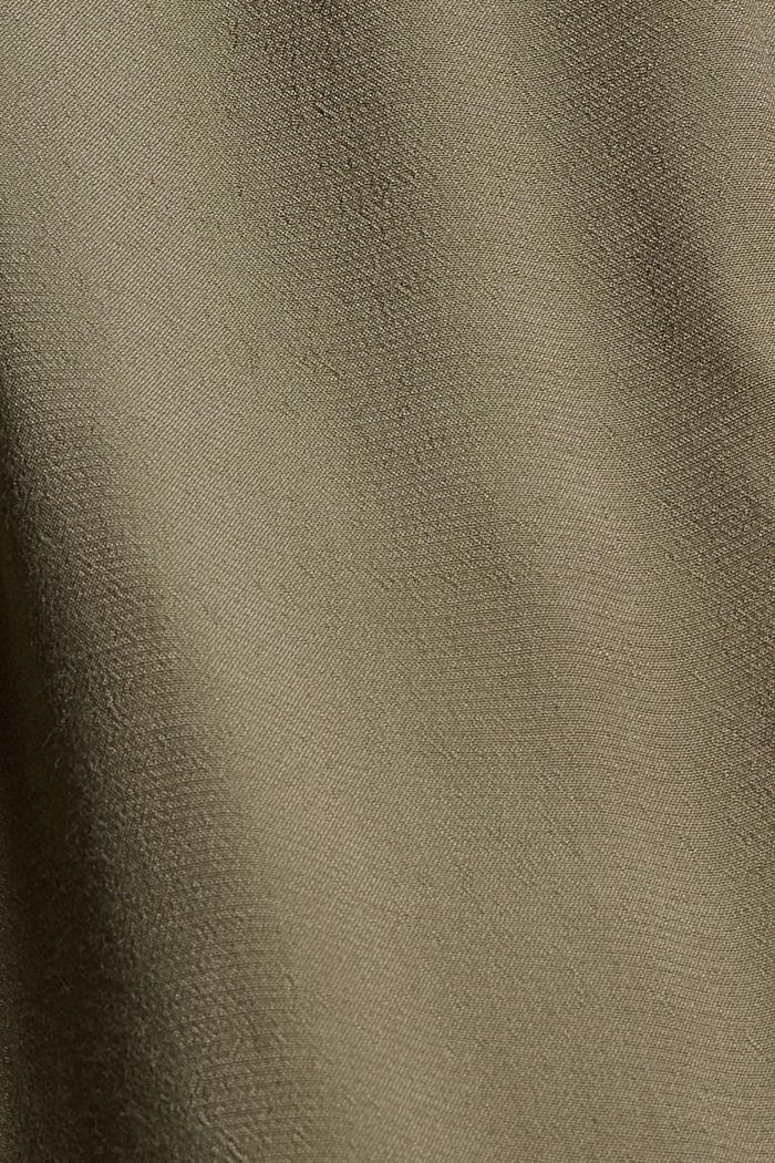 Delší tuniková halenka z vláken LENZING™ ECOVERO™, DARK KHAKI, detail image number 4