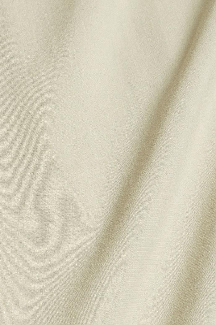 Blusa con mangas semilargas en mezcla de algodón, DUSTY GREEN, detail image number 4