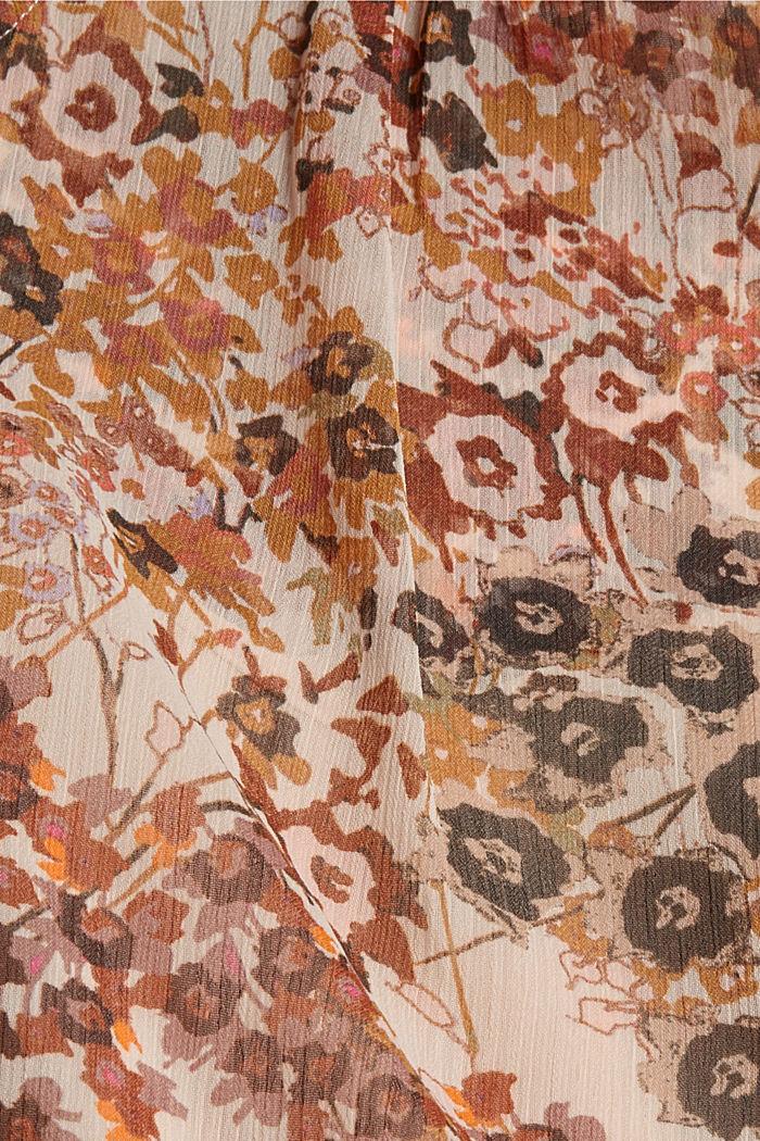 Recycelt: Flower Bluse aus Chiffon, ICE, detail image number 4