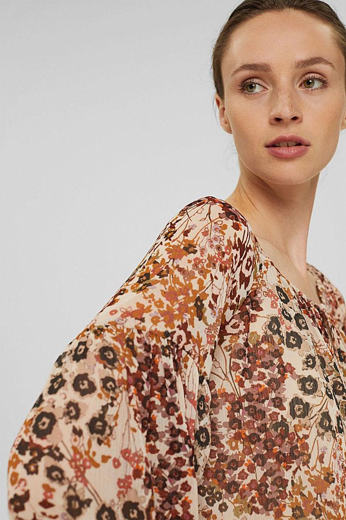 Recycelt: Flower Bluse aus Chiffon, ICE, detail image number 5