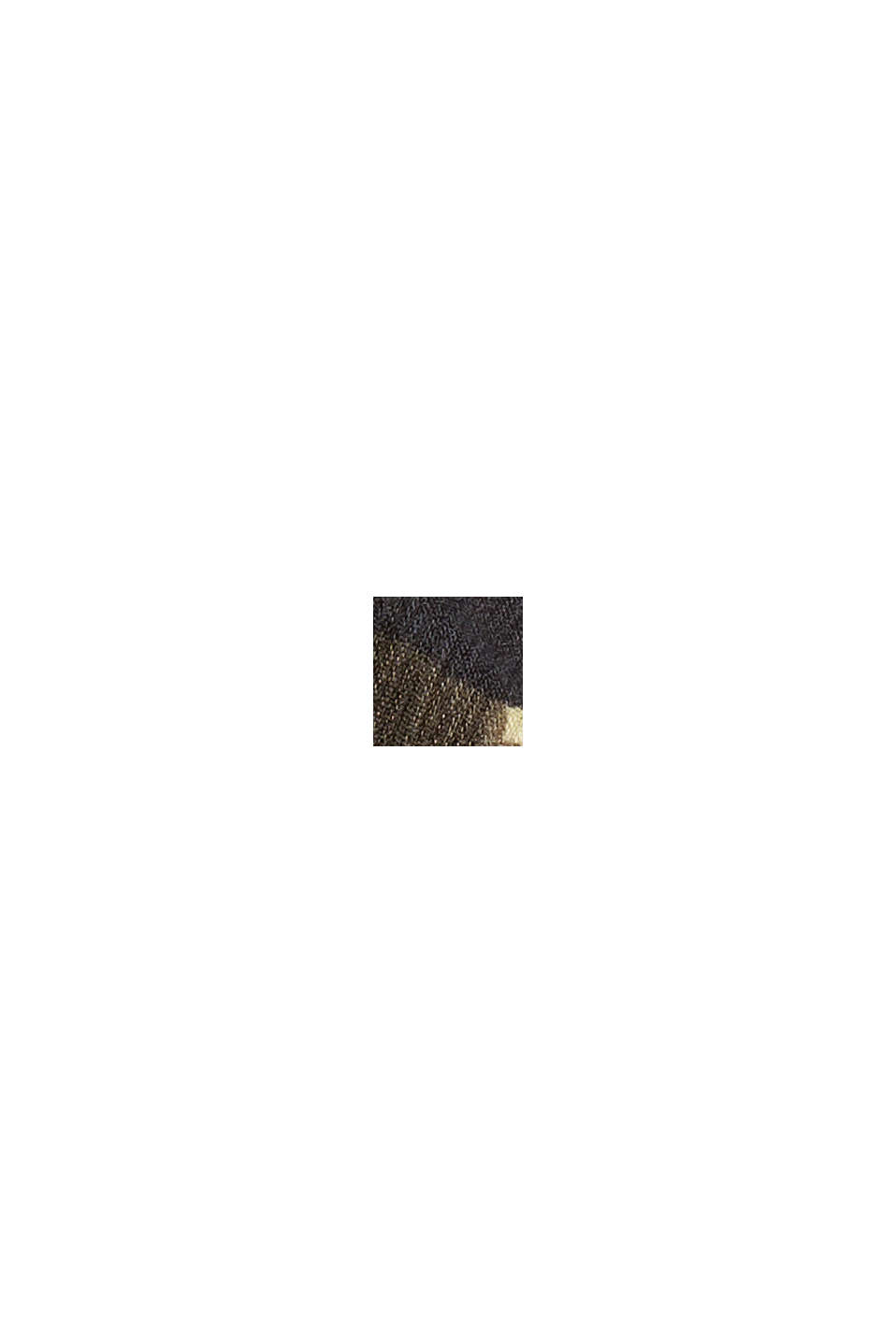 Gerecycled: gebloemde blouse van chiffon, DARK KHAKI, swatch