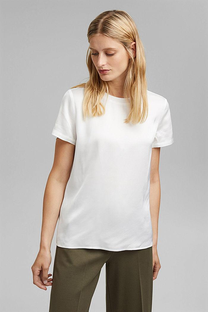 Satin blouse containing LENZING™ ECOVERO™