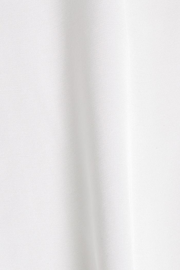Satin-Blusentop mit LENZING™ ECOVERO™, OFF WHITE, detail image number 4