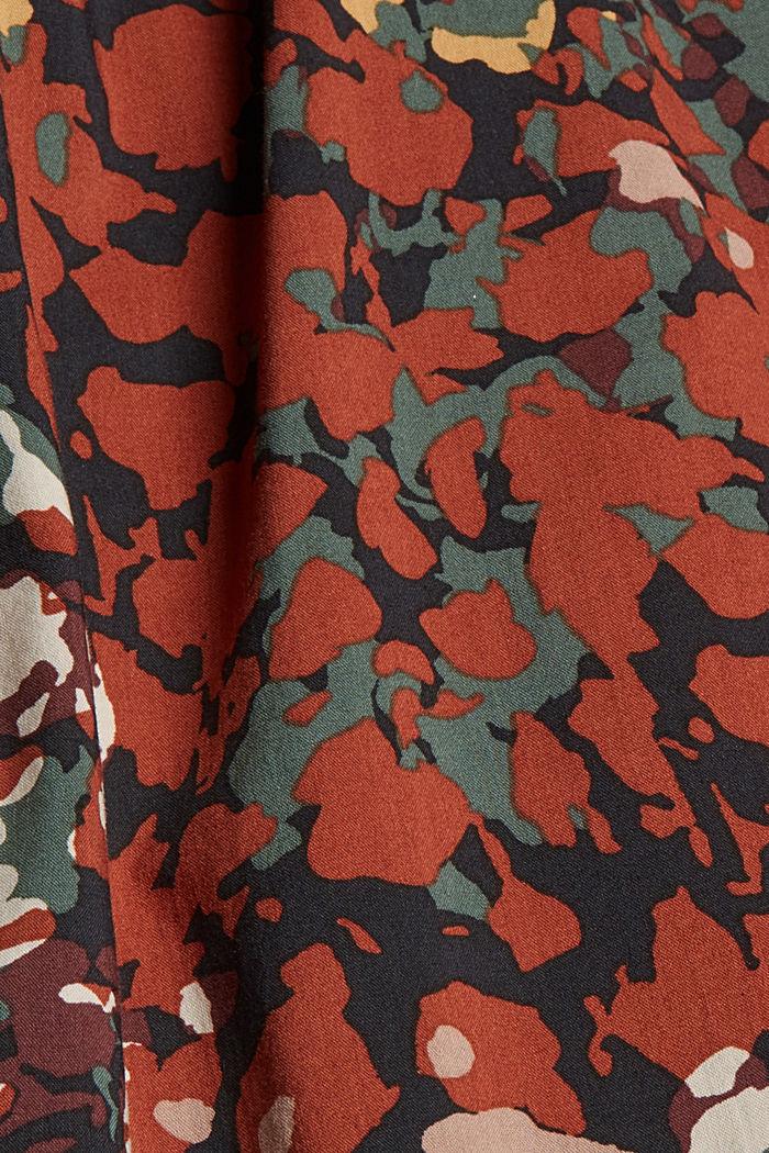 Cotton blend print blouse, BLACK, detail image number 4
