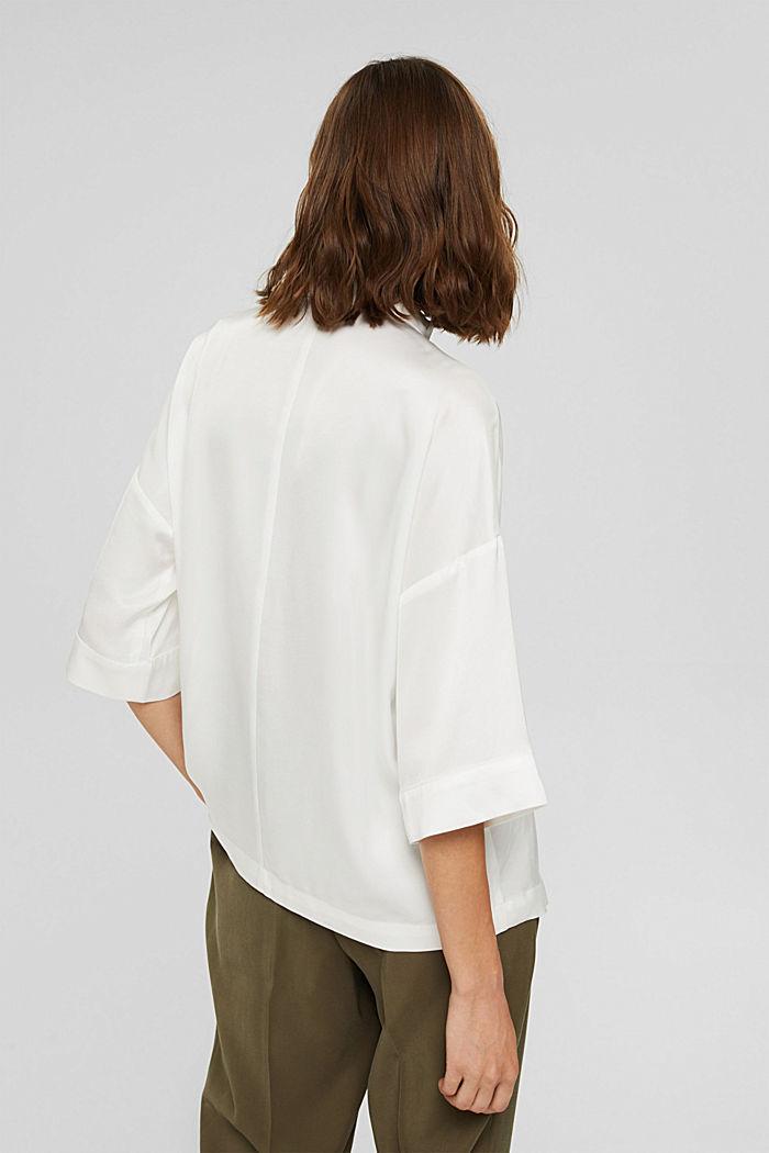 Hemdbluse mit LENZING™ ECOVERO™, OFF WHITE, detail image number 3