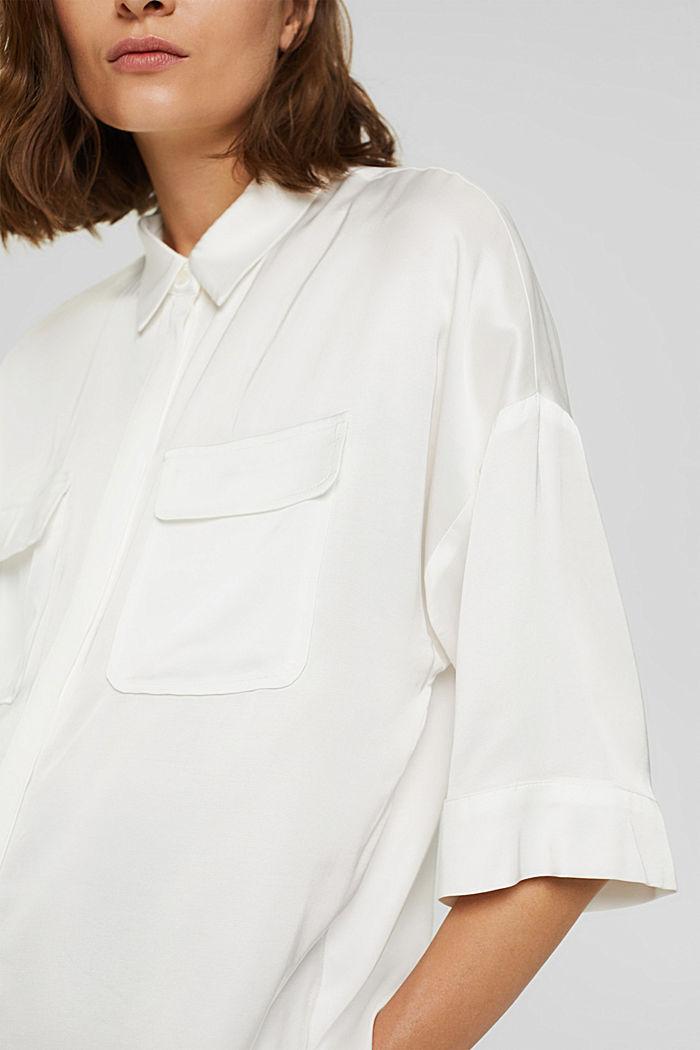 Hemdbluse mit LENZING™ ECOVERO™, OFF WHITE, detail image number 2