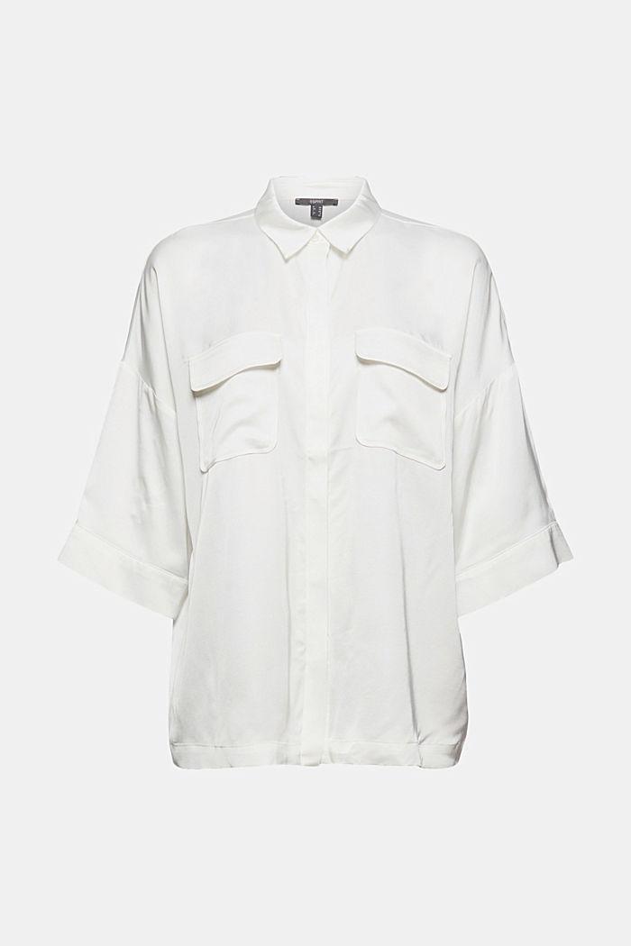 Hemdbluse mit LENZING™ ECOVERO™, OFF WHITE, detail image number 5