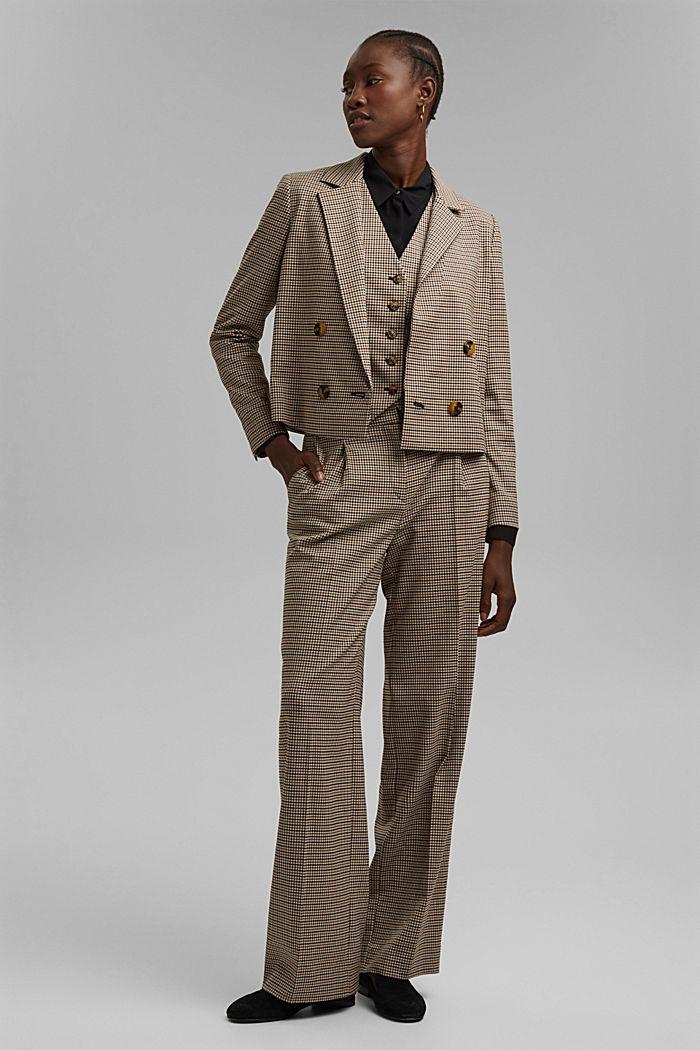 HOUNDSTOOTH Mix + Match Spencer blazer, KHAKI BEIGE, detail image number 1
