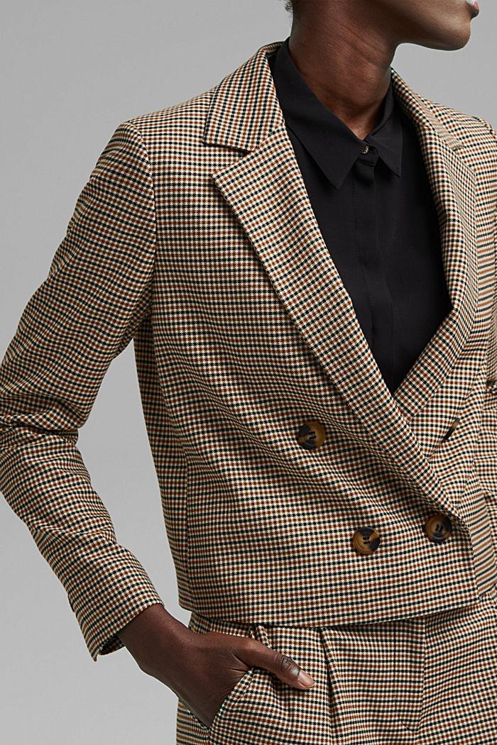 HOUNDSTOOTH Mix + Match Spencer blazer, KHAKI BEIGE, detail image number 2