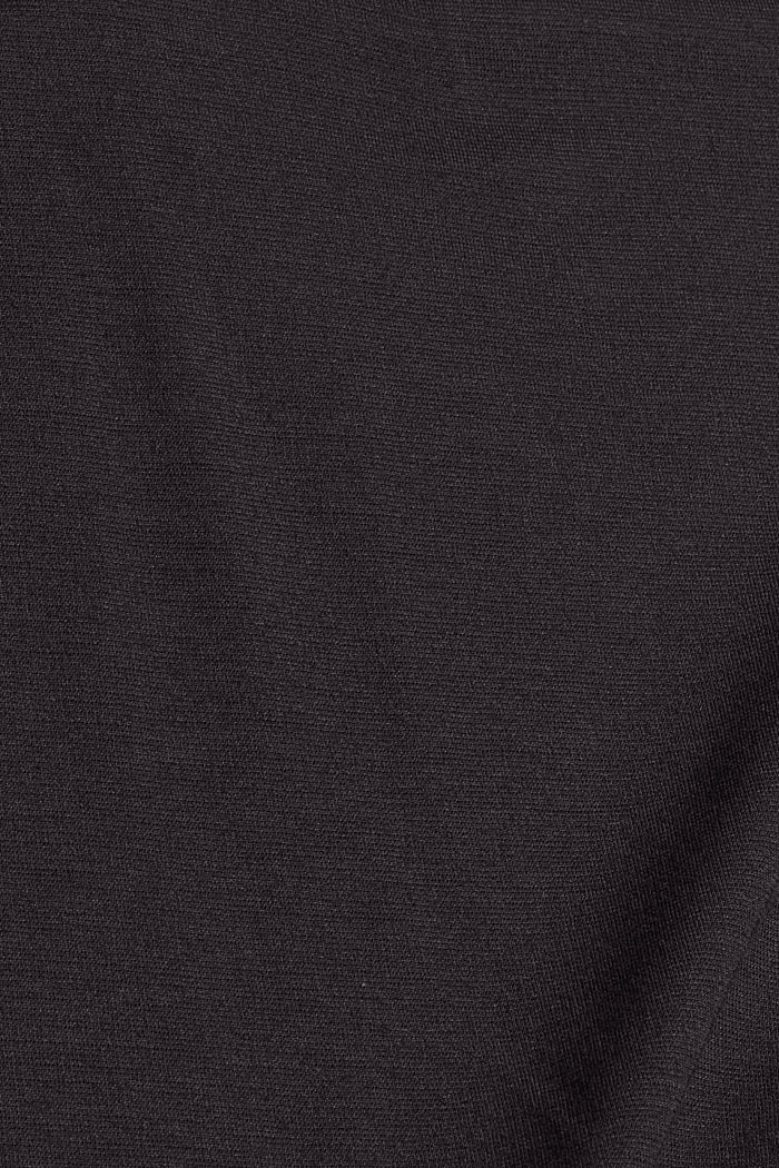 Langer Jersey-Cardigan, LENZING™ ECOVERO™, BLACK, detail image number 4