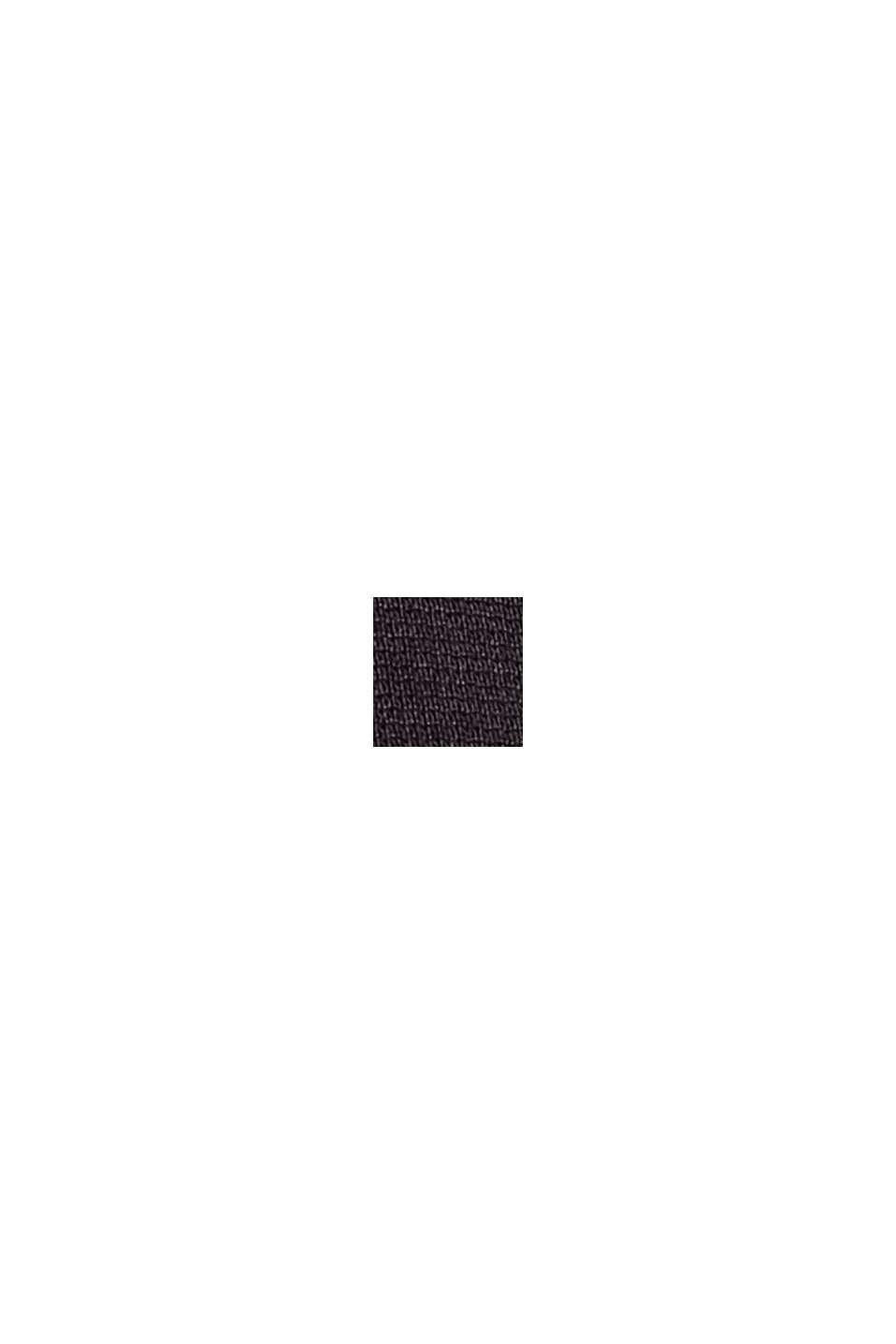 Cardigan lungo in jersey, LENZING™ ECOVERO™, BLACK, swatch