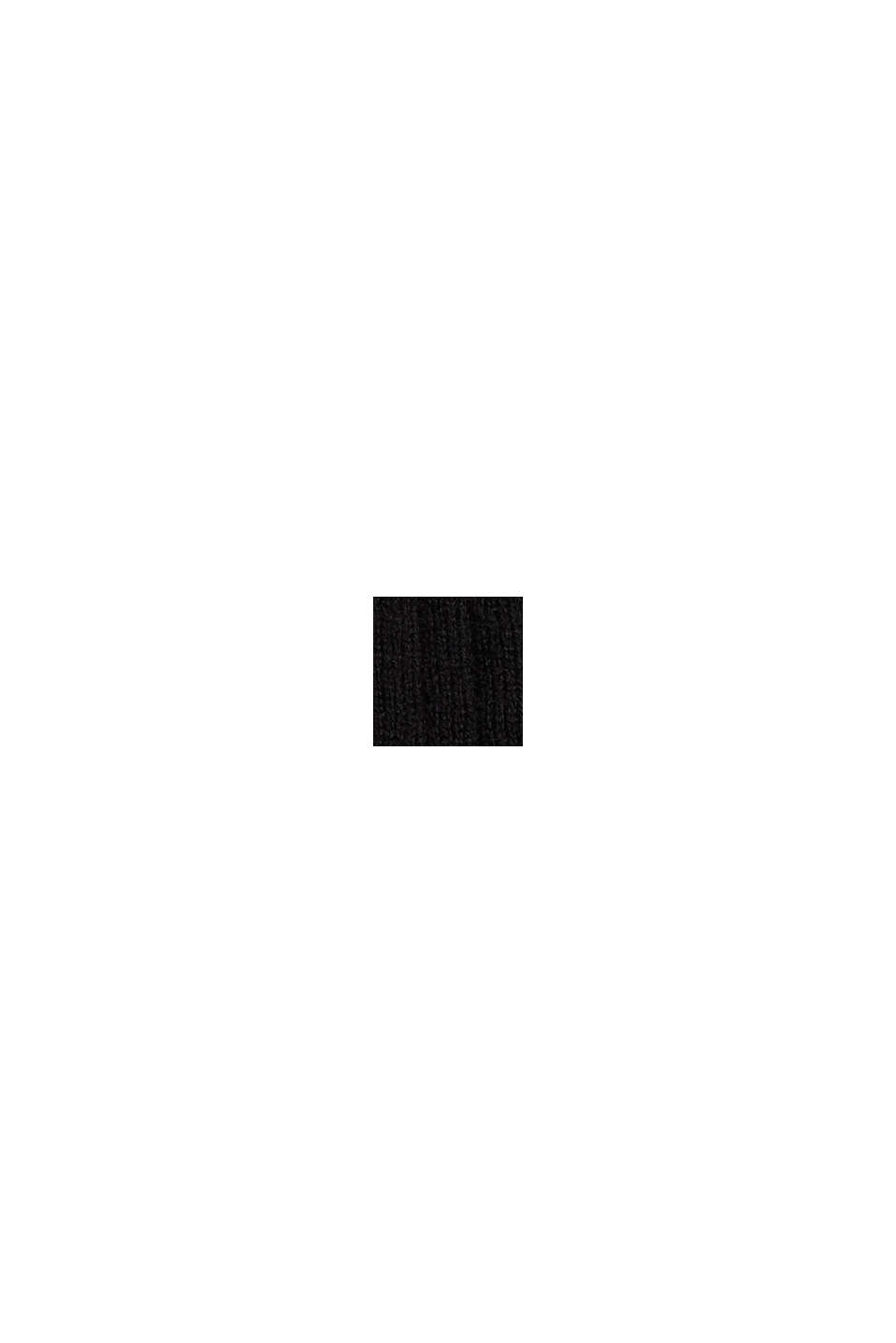Wool blend: Textured, short-sleeved jumper, BLACK, swatch