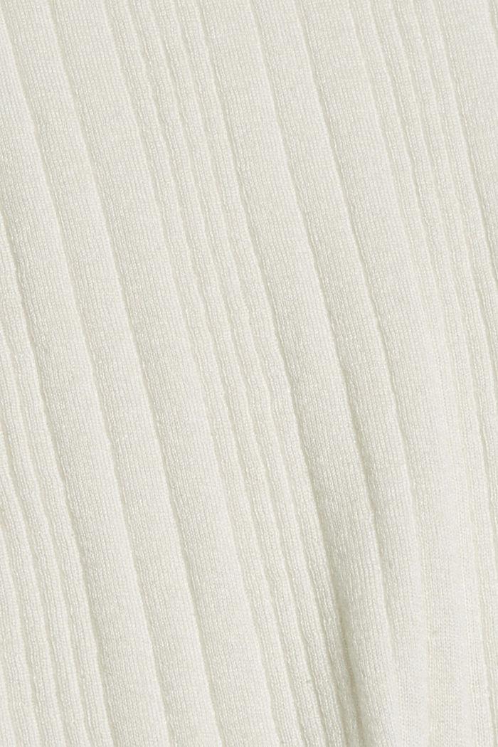 Svlnou: pulovr s krátkým rukávem a strukturou, OFF WHITE, detail image number 4