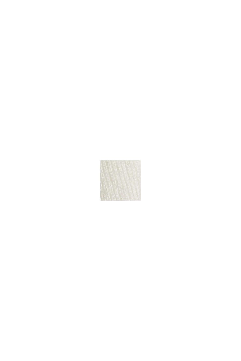 Wool blend: Textured, short-sleeved jumper, OFF WHITE, swatch