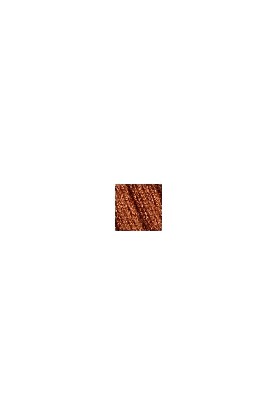 Wool blend: Textured, short-sleeved jumper, TOFFEE, swatch