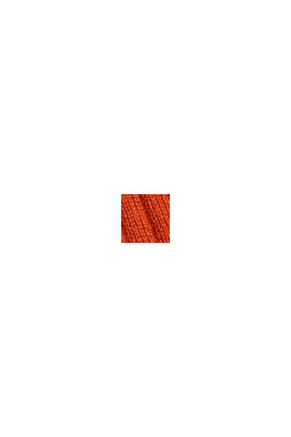 Wool blend: Textured, short-sleeved jumper, TERRACOTTA, swatch