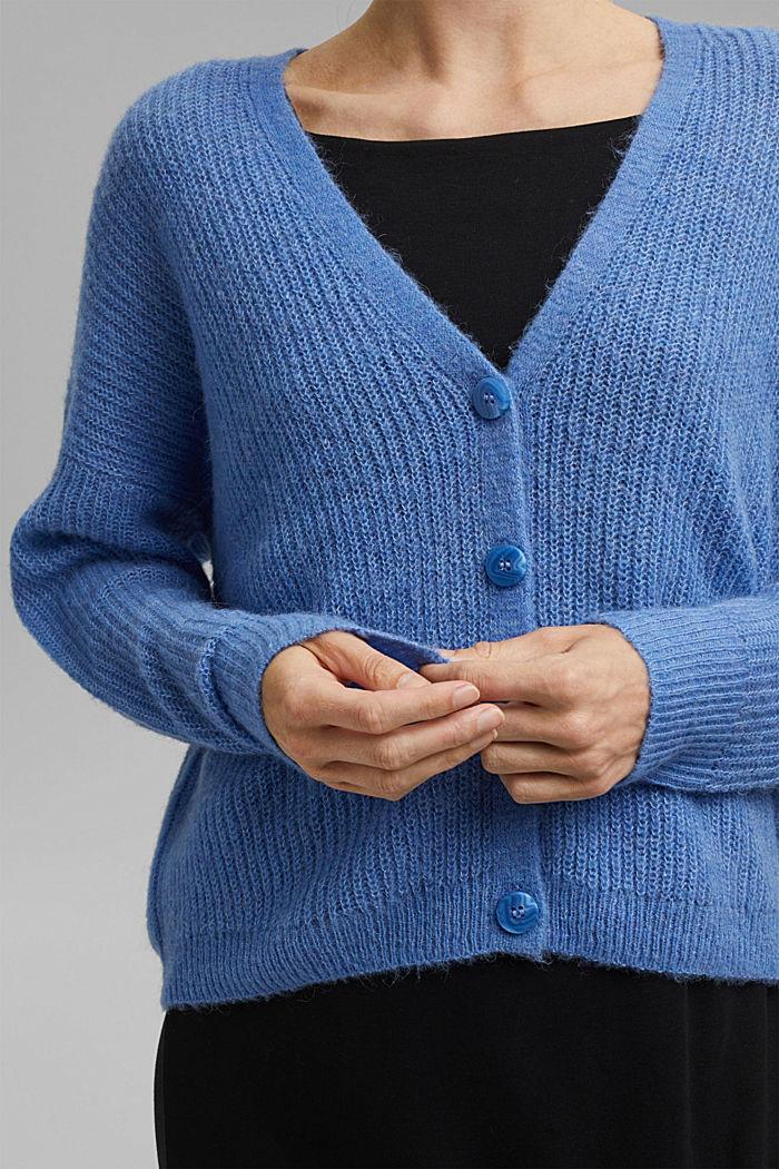 À teneur en alpage/laine: le cardigan à encolure en V, BRIGHT BLUE, detail image number 2