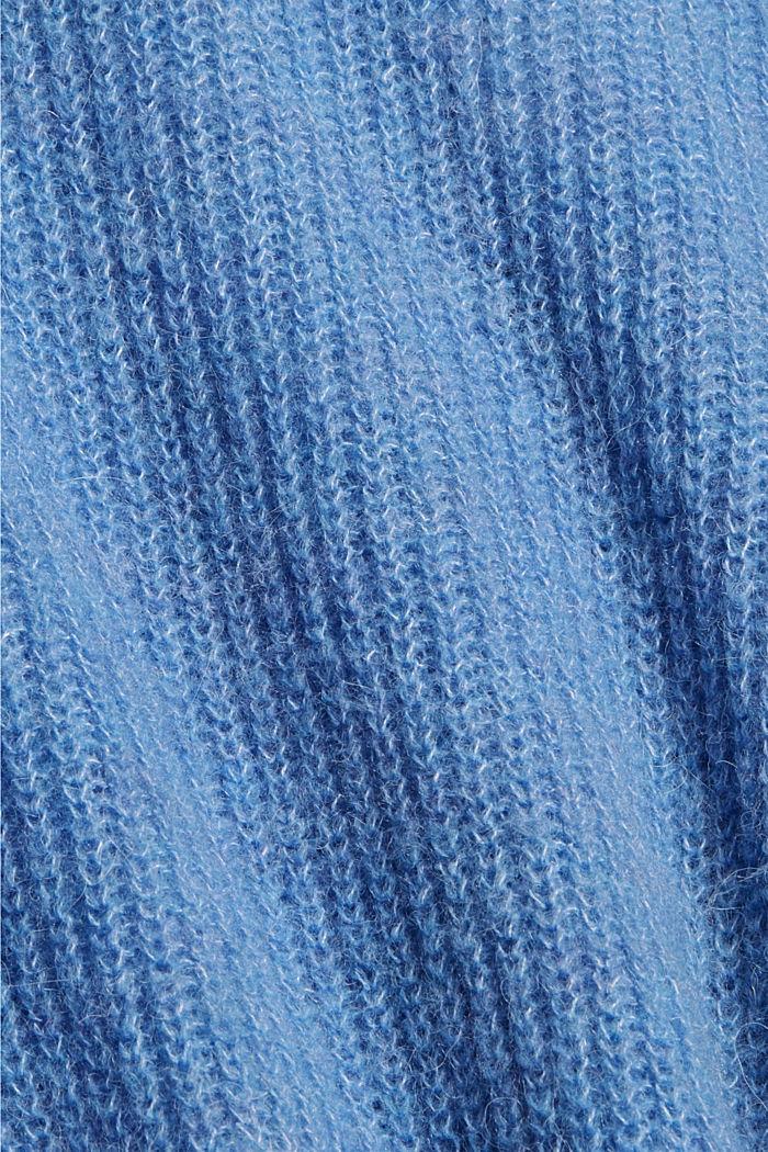 À teneur en alpage/laine: le cardigan à encolure en V, BRIGHT BLUE, detail image number 4