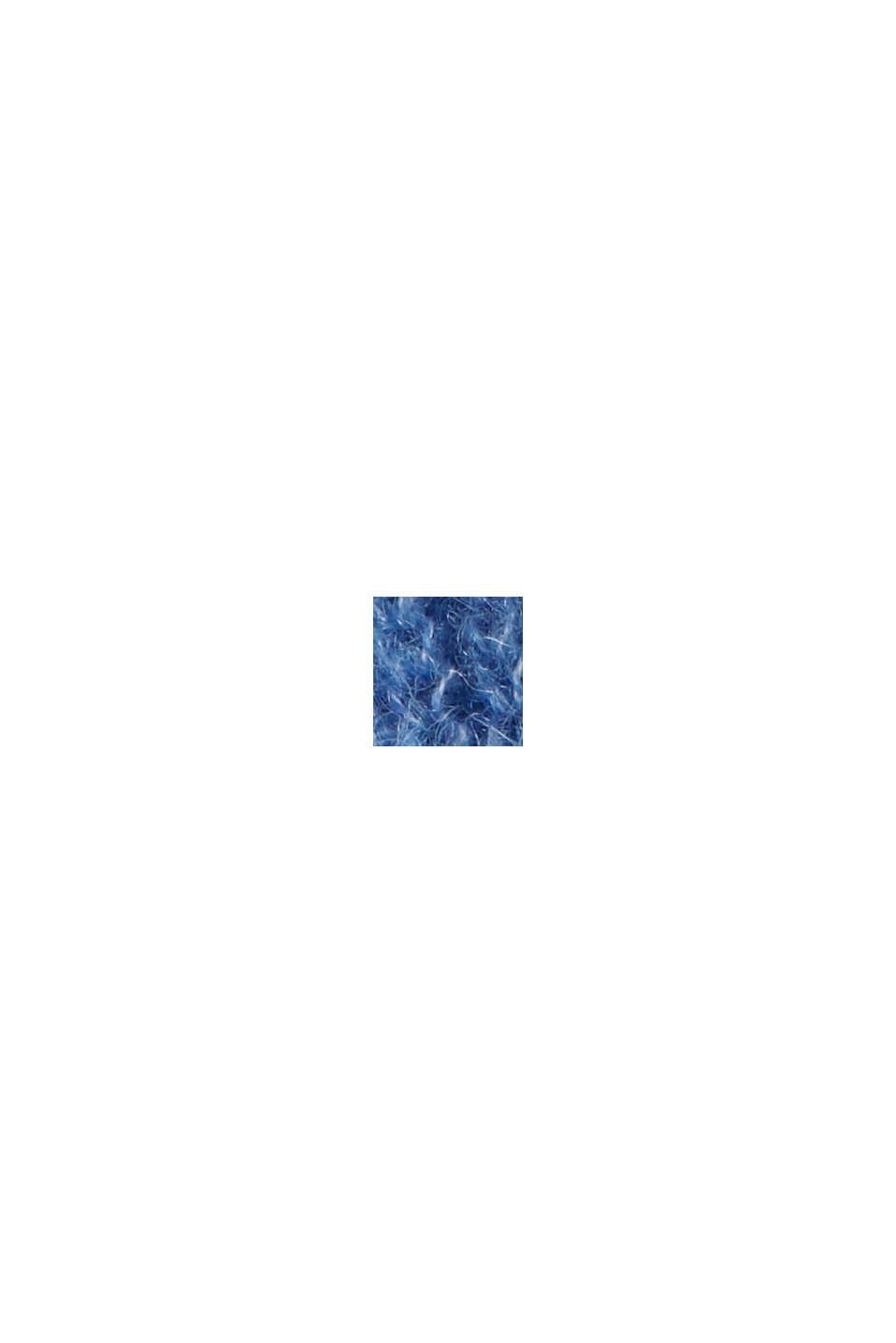 Z wełną z alpaki/owczą: kardigan z dekoltem w serek, BRIGHT BLUE, swatch